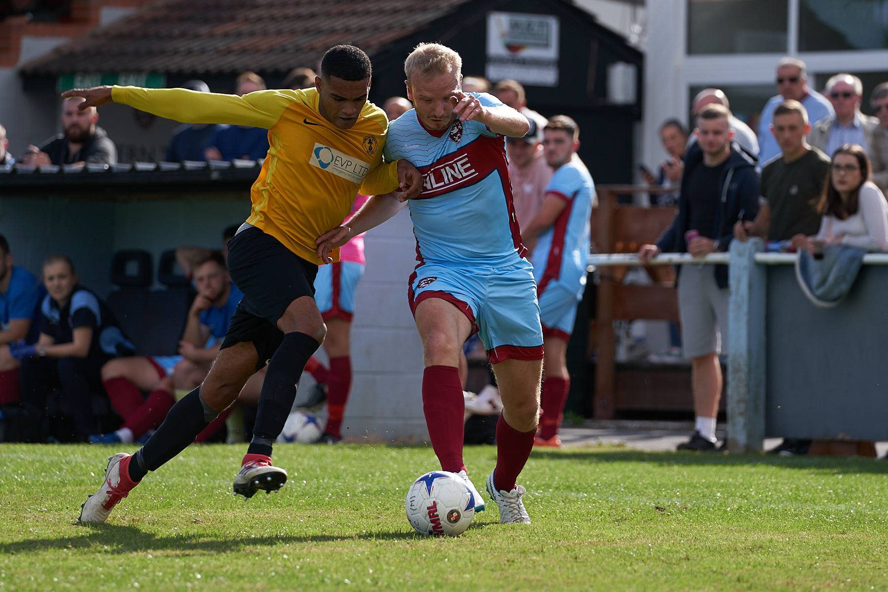 Malvern Town's Matt Turner (right). Picture: STEVE BEATS