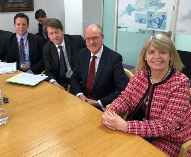 BREXIT: Worcestershire MPs Nigel Huddleston, Robin Walker and Harriett Baldwin MP, pictured with Nick Gibb