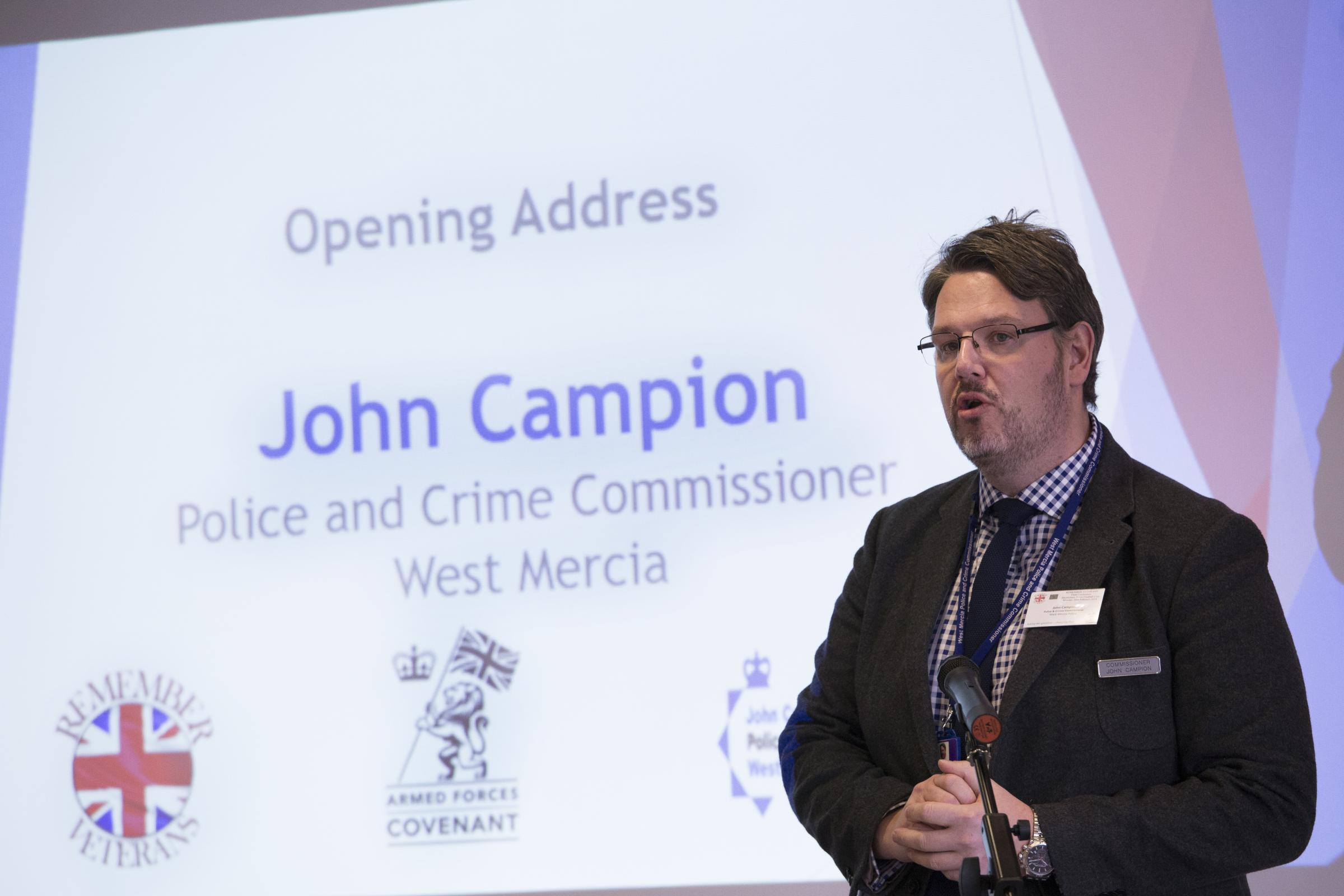 John Campion, West Mercia police and crime commissioner