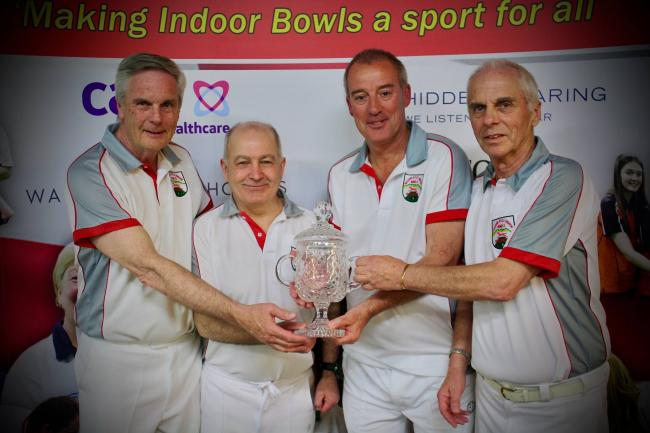 Malvern Hills' national men's over 60 fours champions