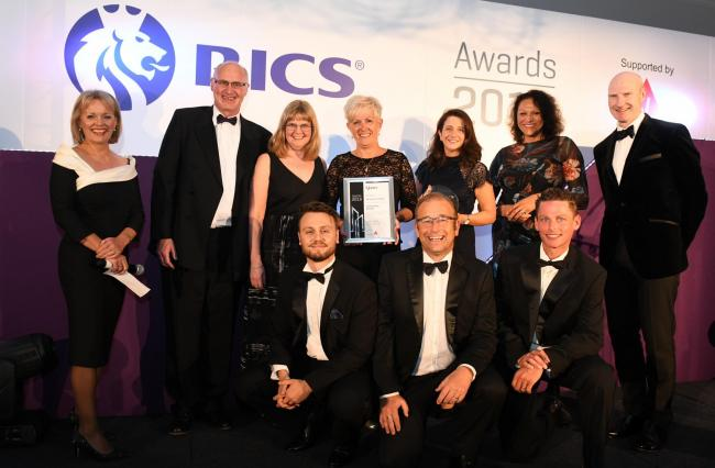 AWARD: The team from Prime at the RICS awards