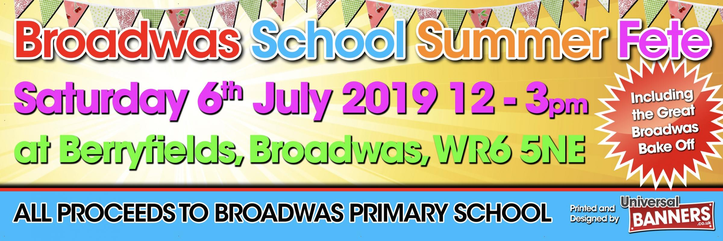 Broadwas School Summer Fete