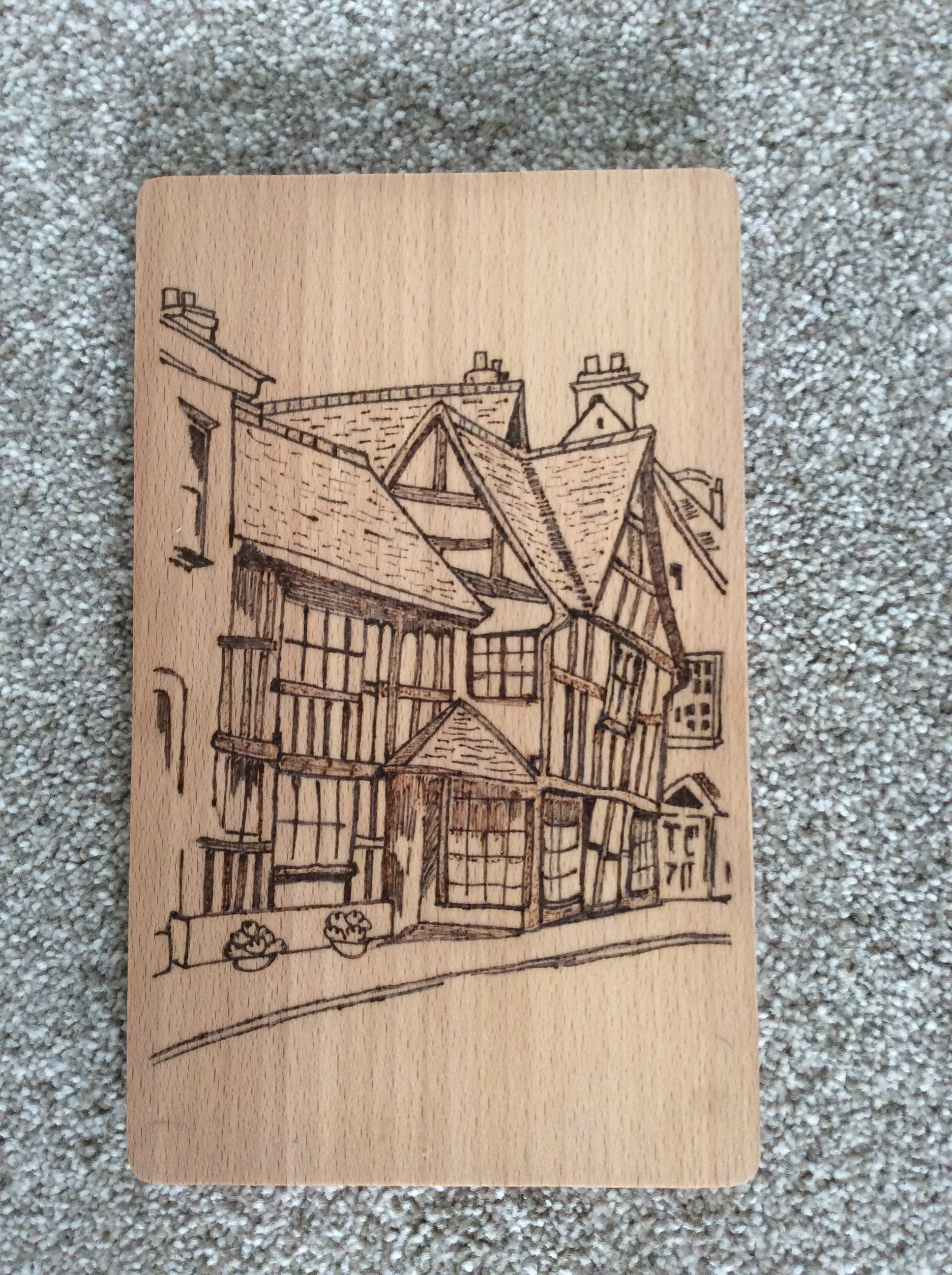 PYROGRAPHY WORKSHOP at THE TUDOR HOUSE MUSEUM, UPTON