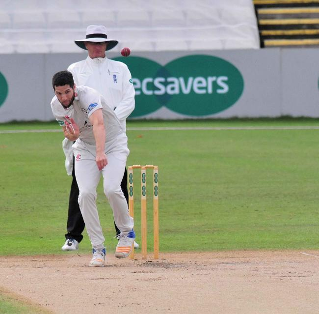 Action from day three of Worcestershire's County Championship match against Surrey at New Road.......Wayne Parnell bowling...Pic Jonathan Barry 12.9.18.
