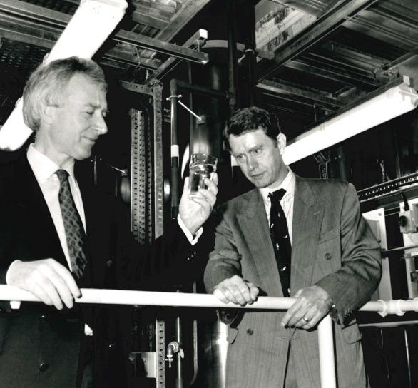 WATER: Michael Spicer visiting Severn Trent in 1992