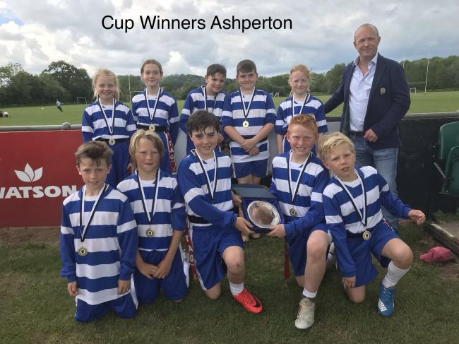 Cup winners and overall festival victors Ashperton enjoy their triumph